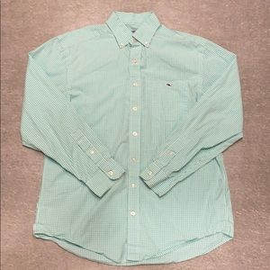 Vineyard Vines - Checked Green & White Button Down